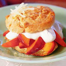 Caramelized-Nectarine and Ginger Shortcakes with Sour Cream