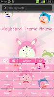 Screenshot of Keyboard Theme Anime