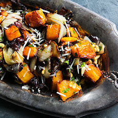 Roasted Butternut Squash, Radicchio, and Onion