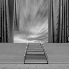 The stair by Huub Keulers - Buildings & Architecture Other Exteriors ( clouds, building, sky, windows, steel, city,  )