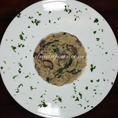 Easy Mushroom Spinach Risotto
