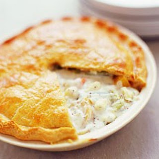 Root Vegetable, Cheese and Onion Pot Pie