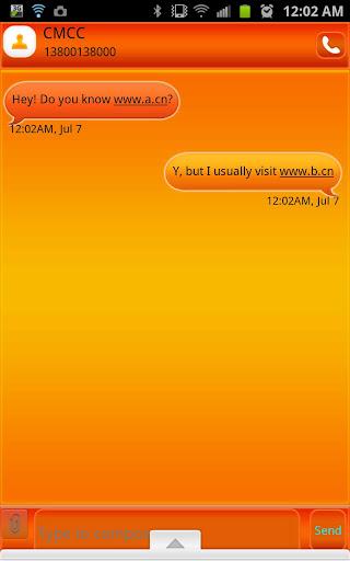 GO SMS - Bubble Orange
