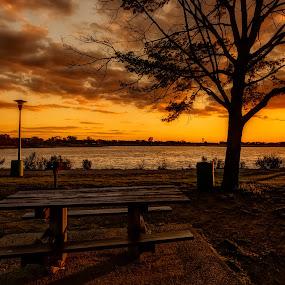 Absolutely Free by Linda Karlin - Landscapes Sunsets & Sunrises ( clouds, sunset, weather, landscape, spring )