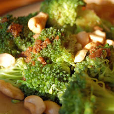 Broccoli with Cashews and Garlic Butter