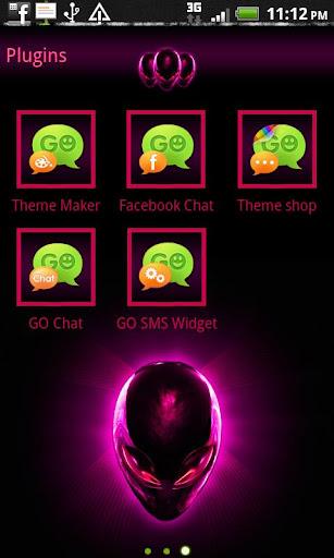 【免費個人化App】GO SMS Pro Alien Pink theme-APP點子