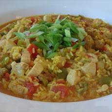 Simple Chicken and Sausage Paella