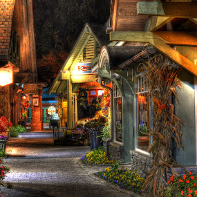 Beautiful Shopping by Greg Mimbs - City,  Street & Park  Markets & Shops ( lights, shops, buildings, tennessee, shopping, gatlinburg, smoky mountains )