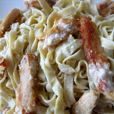 Fettuccine Alfredo with Fresh Pasta