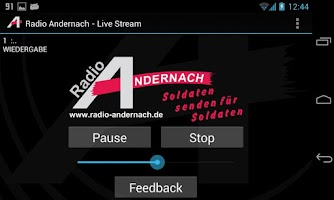 Screenshot of Radio Andernach live hören