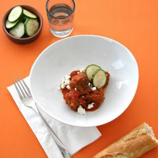 Lamb Meatballs With Goat Cheese & Cucumbers
