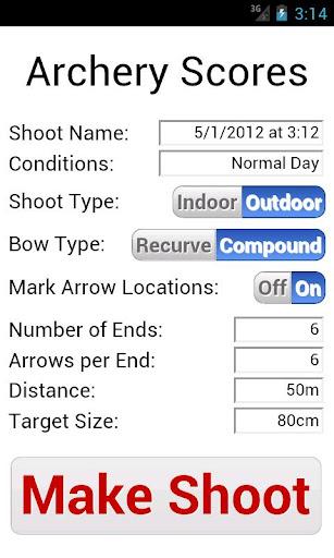 College Archery Scores