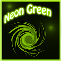 Neon Green Style Clock icon