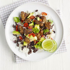 Mexican Rice With Chipotle Pork & Avocado Salsa