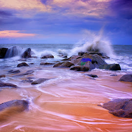 coral and waves by Dany Fachry - Landscapes Beaches ( coral, nature, indonesia, waves, sea, seascape, beach, landscape )