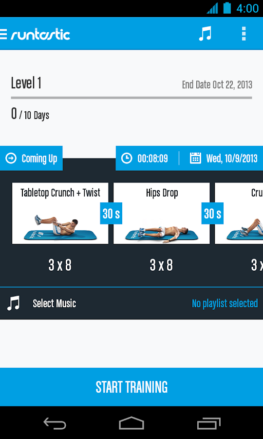 Runtastic Six Pack Ab Workout Screenshot 5