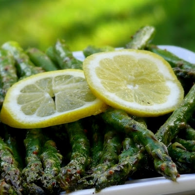 Roasted Asparagus with Mustard-Dill Vinaigrette
