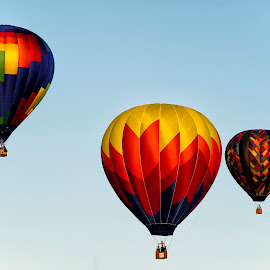colorful sky by Kelvin Watkins - Transportation Other ( hot air, bright, color, floating, balloon )