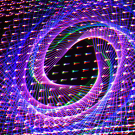 Time tunnel by Jim Barton - Abstract Patterns ( laser light, colorful, light design, laser design, time tunnel, laser, laser light show, light, science )