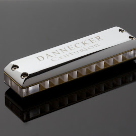Dannecker Centurion Chrome Lex by Margaret Gorman - Artistic Objects Musical Instruments ( dannecker, chrome, lexan, acryllic, harmonica )