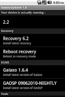 Screenshot of GalaxyUpdater