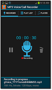 Automatic Call Recorder MP3 - screenshot