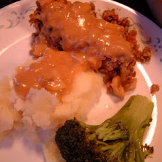 Lentil-Walnut Loaf With Gravy