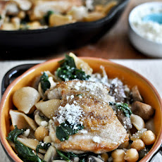 Chicken, Kale + Chickpea Skillet