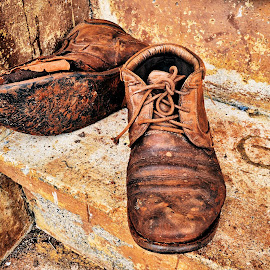Worn out by Angelica Glen - Novices Only Objects & Still Life ( shoes, old, clothing, worn, dirty, steps, boots, artistic, object,  )