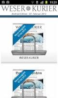 Screenshot of WESER-KURIER E-Paper