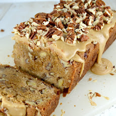 Apple Bread with Pecan Praline Glaze