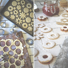 Blood Orange Linzer Cookies
