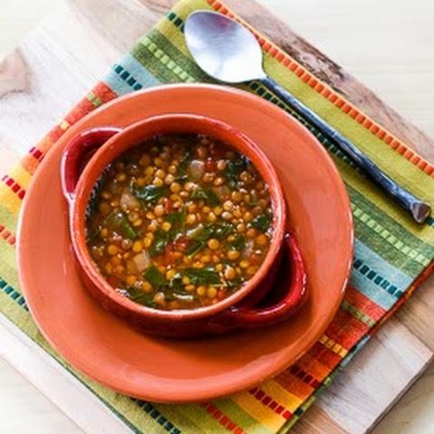 Lentil Soup with Spinach, Tomatoes, and Cumin
