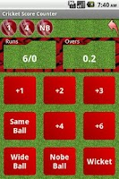 Screenshot of Cricket Calculator