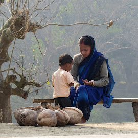 Mother & child by Anupam Goswami - People Family ( anupam, family, mother & child, goswami, enthnicity, people, culture, livelihood )