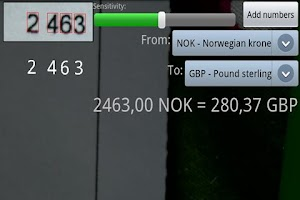 Screenshot of Currency Lens
