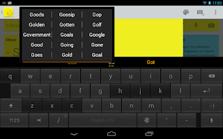 Screenshot of ThickButtons Keyboard