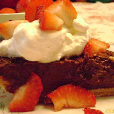 Dark Chocolate Pudding Pie