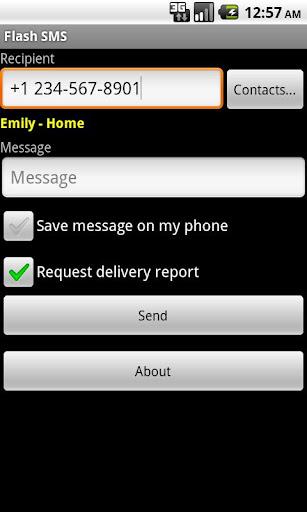 Flash SMS / Class 0 - screenshot