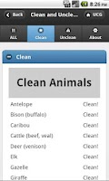 Screenshot of Clean and Unclean Meats