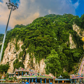 Batu Caves by Loshy Nee - Landscapes Cloud Formations