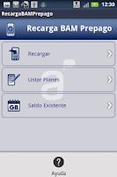 Screenshot of Recarga BAM Prepago