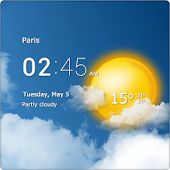 Download Transparent clock & weather APK on PC