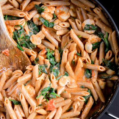 Penne Rosa with Shrimp