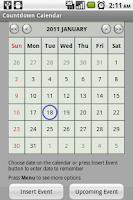 Screenshot of Countdown Calendar Lite