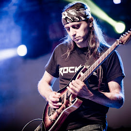 Wizard of Rock by Mladen Bozickovic - People Musicians & Entertainers ( music, concert, play, musician, guitar, rock, men, young, stage, light )