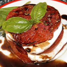 Roasted Tomato and Mozzarella Salad With Balsamic Reduction