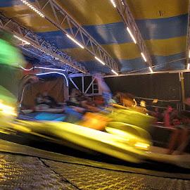 La grande chenille by Phot ' O 3 P - News & Events Entertainment ( fête, fêe, lumières, musique, chenille, fête foraine, couleurs, manège,  )