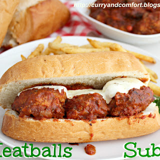 Con-Fusion Meatball Subs (Italian, Indian and Asian Meatball Subs)