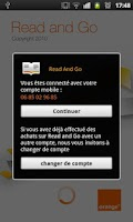 Screenshot of Read and Go, lecture numérique